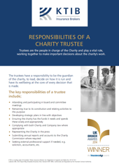 Responsibilities of a Charity Trustee Flyer